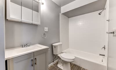 Bathroom, Shore Hill Apartments, 2