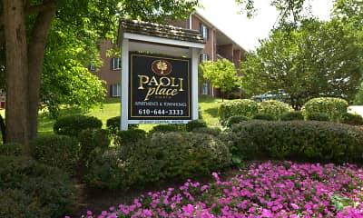 Community Signage, Paoli Place, 0