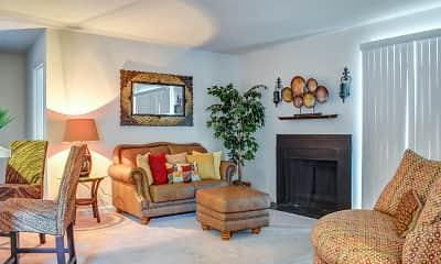 Living Room, Deer Run Apartments, 1