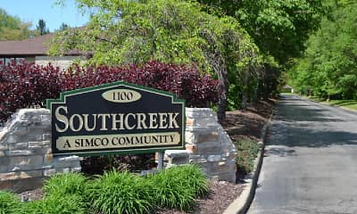 Community Signage, Southcreek Apartments, 2
