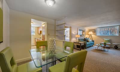 Dining Room, Brattle Drive Apartments, 2