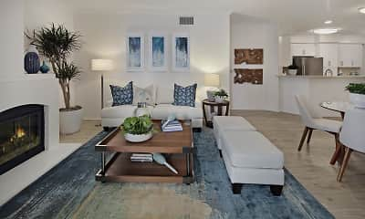 Living Room, Torrey Villas, 2