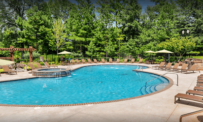 Pool, Lullwater At Bass Apartment Homes, 2