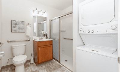 Bathroom, Sheldon Square Senior Apartments, 0