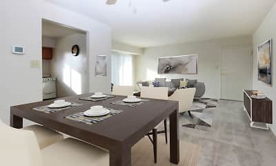 Dining Room, Glen Mar Apartment Homes, 1
