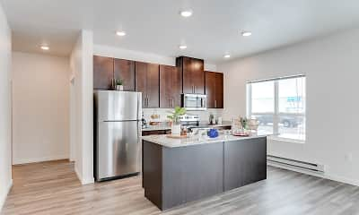 Kitchen, Technology Park Apartments, 1