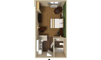 Furnished Studio - Detroit - Metropolitan Airport, 2