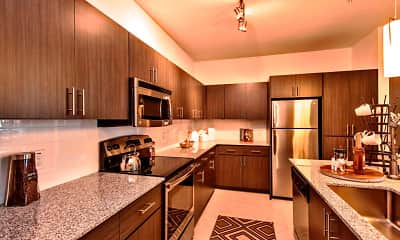 Kitchen, Elevation on Central, 2
