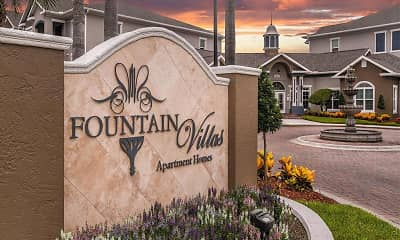 Community Signage, Fountain Villas, 2