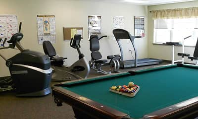 Fitness Weight Room, Stone Ledge Apartments, 2