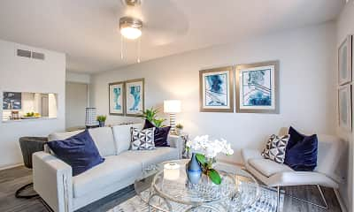 Living Room, The Villas on 35th, 1