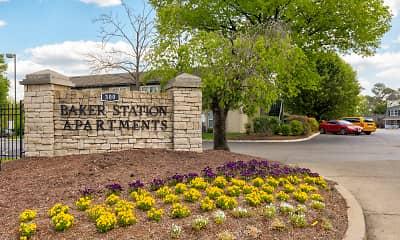 Community Signage, Baker Station, 2