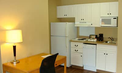 Kitchen, Furnished Studio - San Jose - Airport, 1