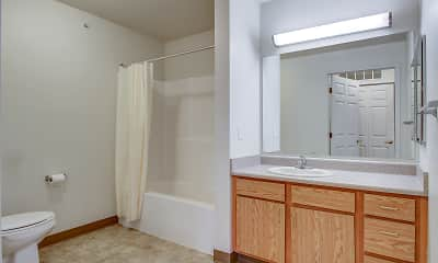 Bathroom, Allegan Senior Residences, 2