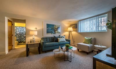 Living Room, Brattle Drive Apartments, 0