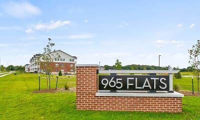 Community Signage, 965 Flats, 2