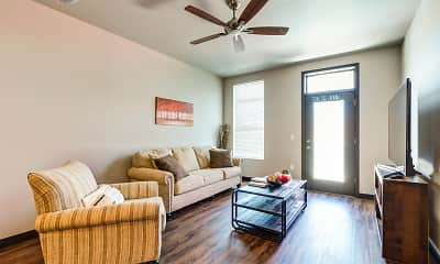 Living Room, Brick Towne At Piper, 1