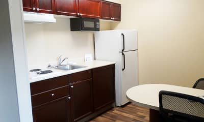 Kitchen, Furnished Studio - Portland - Hillsboro, 1