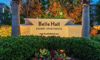 Community Signage, Belle Hall, 2