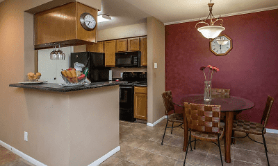 Kitchen, Riverwalk Apartments, 0