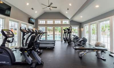 Fitness Weight Room, Summit at Mill Ridge, 1
