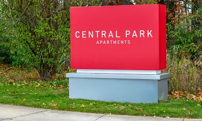 Community Signage, Central Park Apartments, 2