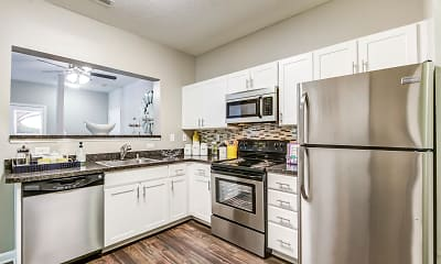 Kitchen, Red Run Apartments, 0