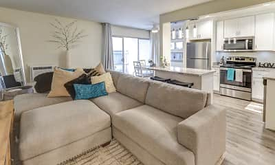 Living Room, Coffeetree Apartments, 0