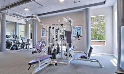 Fitness Weight Room, Stevens Creek Villas, 1