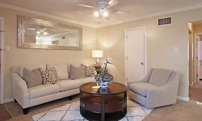 Living Room, Bandywood Apartment Homes, 1