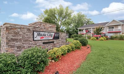 Community Signage, Music City Flats, 2