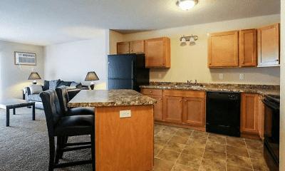 Kitchen, Fox Run Apartments, 0