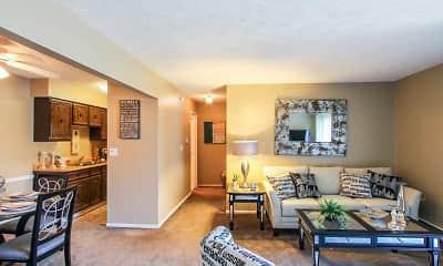 Living Room, Hillbrook Apartments, 1