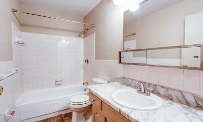 Bathroom, Country Club Apartments, 2