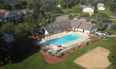 Pool, Fox Glen Apartments and Fitness Club, 0