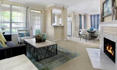 Living Room, Turtlecreek Apartments, 0
