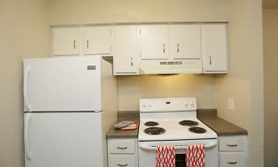 Kitchen, Crossroads Village Apartments, 1