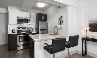 Kitchen, Montclair On The Park, 1