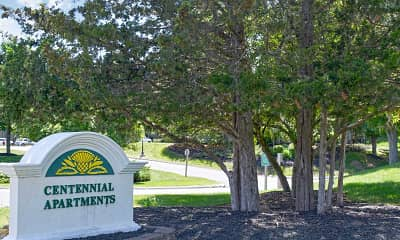 Community Signage, Centennial Apartments, 2