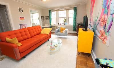 Living Room, Squirrel Hill Apartments, 1