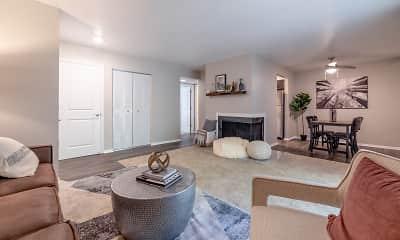 Living Room, Woodbridge Apartments of Bloomington, 1