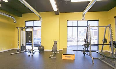 Fitness Weight Room, Brickgate Apartments, 2
