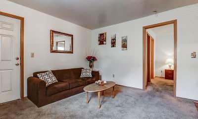 Living Room, Maverick & Hidden Village Apartments, 1