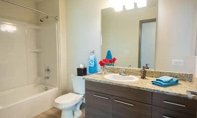 Bathroom, Sheridan Station Apartments, 2