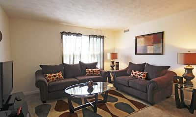 Living Room, Riverlands Apartments, 1