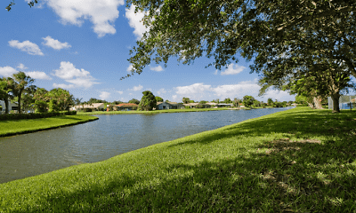 water view featuring an expansive lawn, Players Club, 1