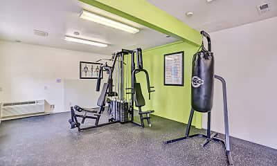 Fitness Weight Room, Gateway Apartments, 2