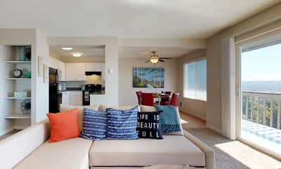 Living Room, Sunset View Apartments, 1