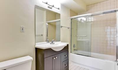 Bathroom, 1800 Pacific Apartments, 2