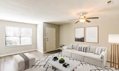 Living Room, Aven Apartments, 1